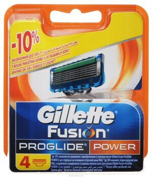 Кассеты Fusion ProGlide Power 4шт/10 импорт